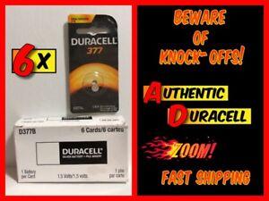 6x-DURACELL-377-SR66-SR626W-376-Button-Lithium-Battery-1-5-Volt-NEW