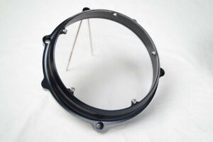 Ducati-Kbike-CASTOR-Billet-Anodized-See-Thru-Clutch-Cover-BLACK-made-IN-ITALY
