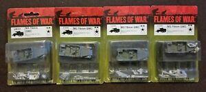 Flames of War American - US101 M3 75mm GMC self-propelled anti-tank - Lot of 4