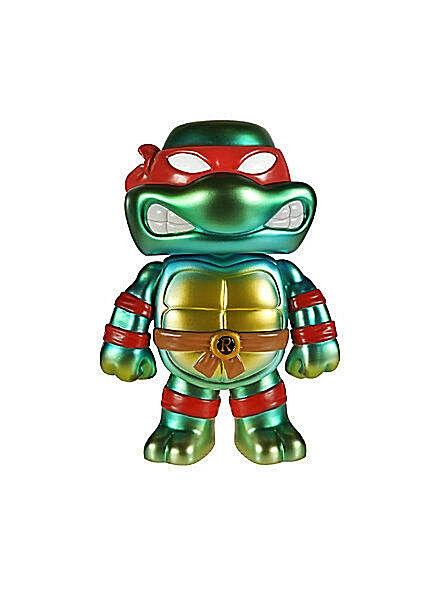 FUNKO Hikari Sofubi_Teenage Mutant Ninja Turtles__Metallic RAPHAEL__1 of 500_MIB