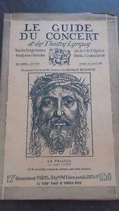 Revista Le Guía de La Concierto Y Las Sketches Letra 1926 N º 24-25 La Pasión