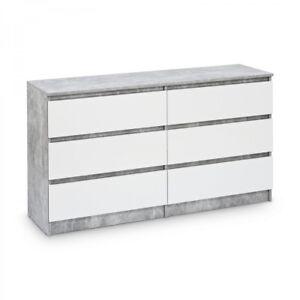 Kommode Mit 6 Schubladen 140cm Sideboard Mehrzweckschrank Anrichte