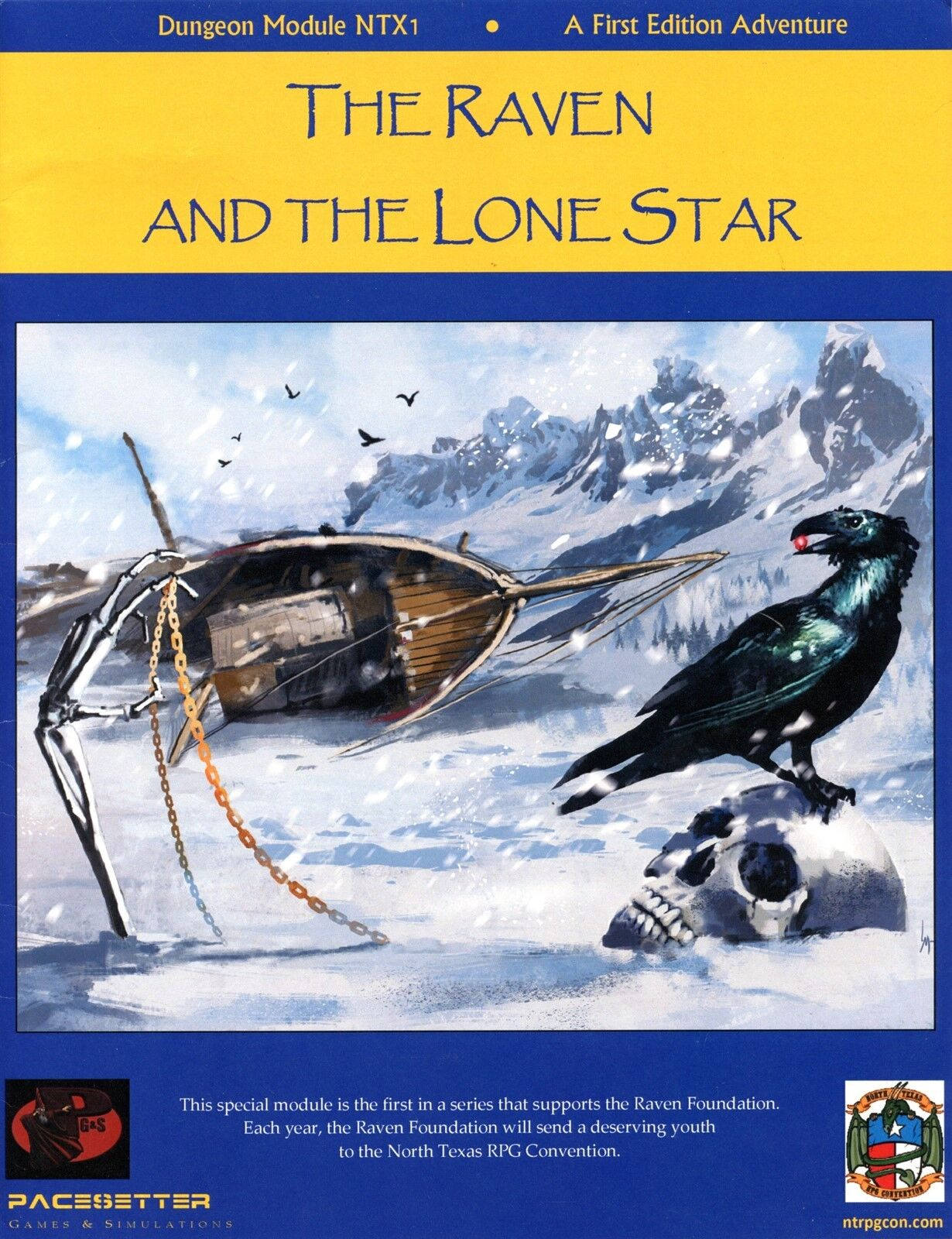 THE RAVEN AND THE LONE STAR NTX1 PACESETTER FANTASY RPG VF