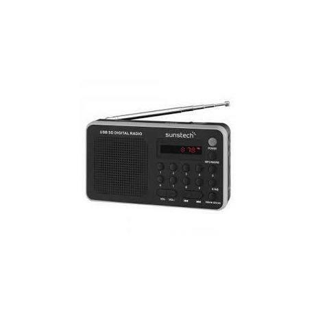 Radio Portátil Digital Sunstech RPDS32SL Silver, Radios CD / FM