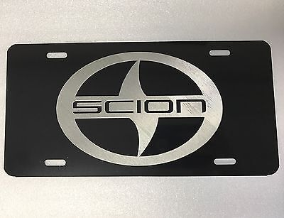 Indianapolis Colts Logo Car Tag Diamond Etched on Black Aluminum License Plate
