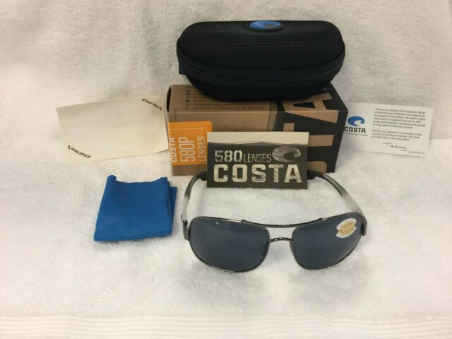 a7d14972ed5c NEW Costa Del Mar Cocos Polarized Sunglasses Gunmetal Gray 580P CC 74 OGP  580