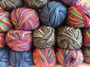 Opal-Safari-sock-yarn-100g-Five-shades-One-ball-knits-one-pair