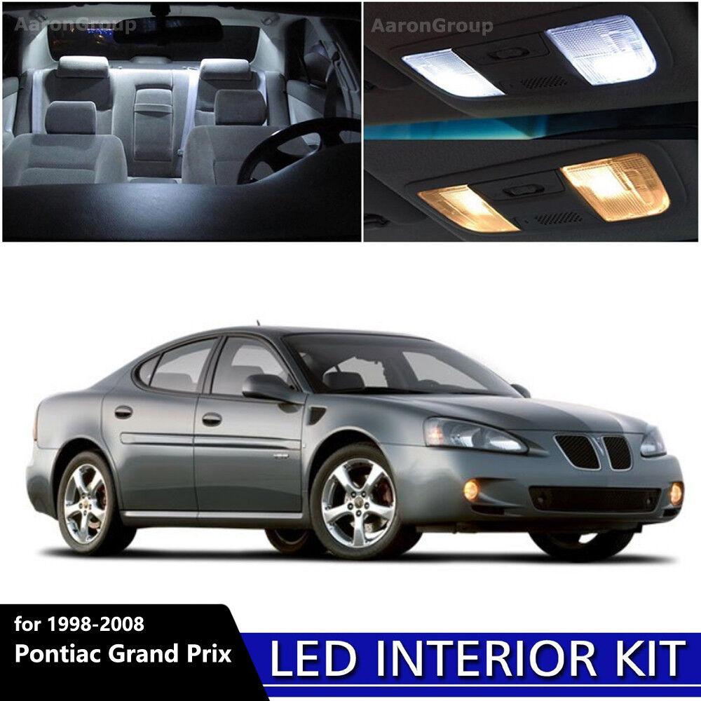 9pcs white interior led light package kit for 1998 2008 pontiac grand prix ebay. Black Bedroom Furniture Sets. Home Design Ideas