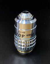 Nikon Cfn Plan 40x070 Microscope Objective Labophot Optiphot Diaphot Alphaphot