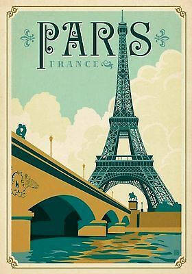 MAGNET TRAVEL Photo Magnet PARIS France Eiffel Tower