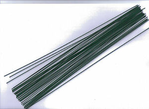 Steckdraht, basteldraht, flores alambre, verde, 0,9 mm x 300 mm, 40 trozo  </span>