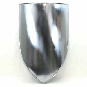 Medieval-knight-Heater-Shield-Blank-18-Gauge-Replica-Steel-Reproduction-28-034-Gift