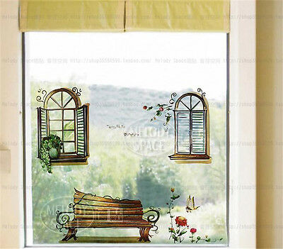 Window scene Home Room Decor Removable Wall Stickers Decal Decoration