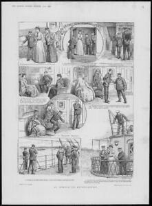 1900 FINE ART Antique Print - Illustrations Interrupted Entertainment Ince (511)
