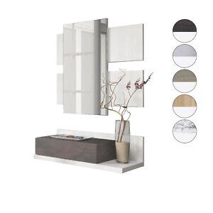 Dettagli su Ricevitore con cassetto e specchio, mobili sospesi, mobili  d\'ingresso, Tekkan