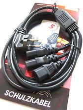 3-cable de alimentación especializada electricidad-cable-distribuidor 3 vías frío dispositivos cable Schuko MONITOR PC