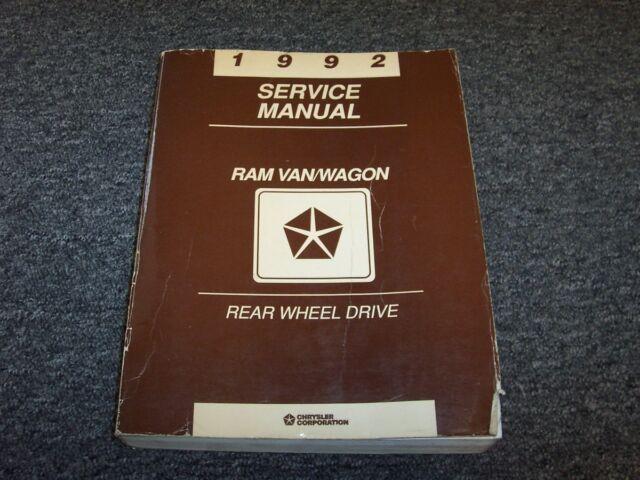 1992 Dodge Ram Van  U0026 Wagon Shop Service Repair Manual B150