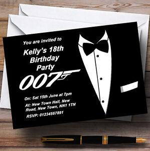 James Bond Themed Personalised Party Invitations Ebay