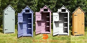 Garden Tool Shed Wooden Outdoor Beach Hut Style