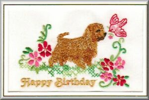 Boston Terrier Birthday Card Embroidered by Dogmania FREE PERSONALISATION