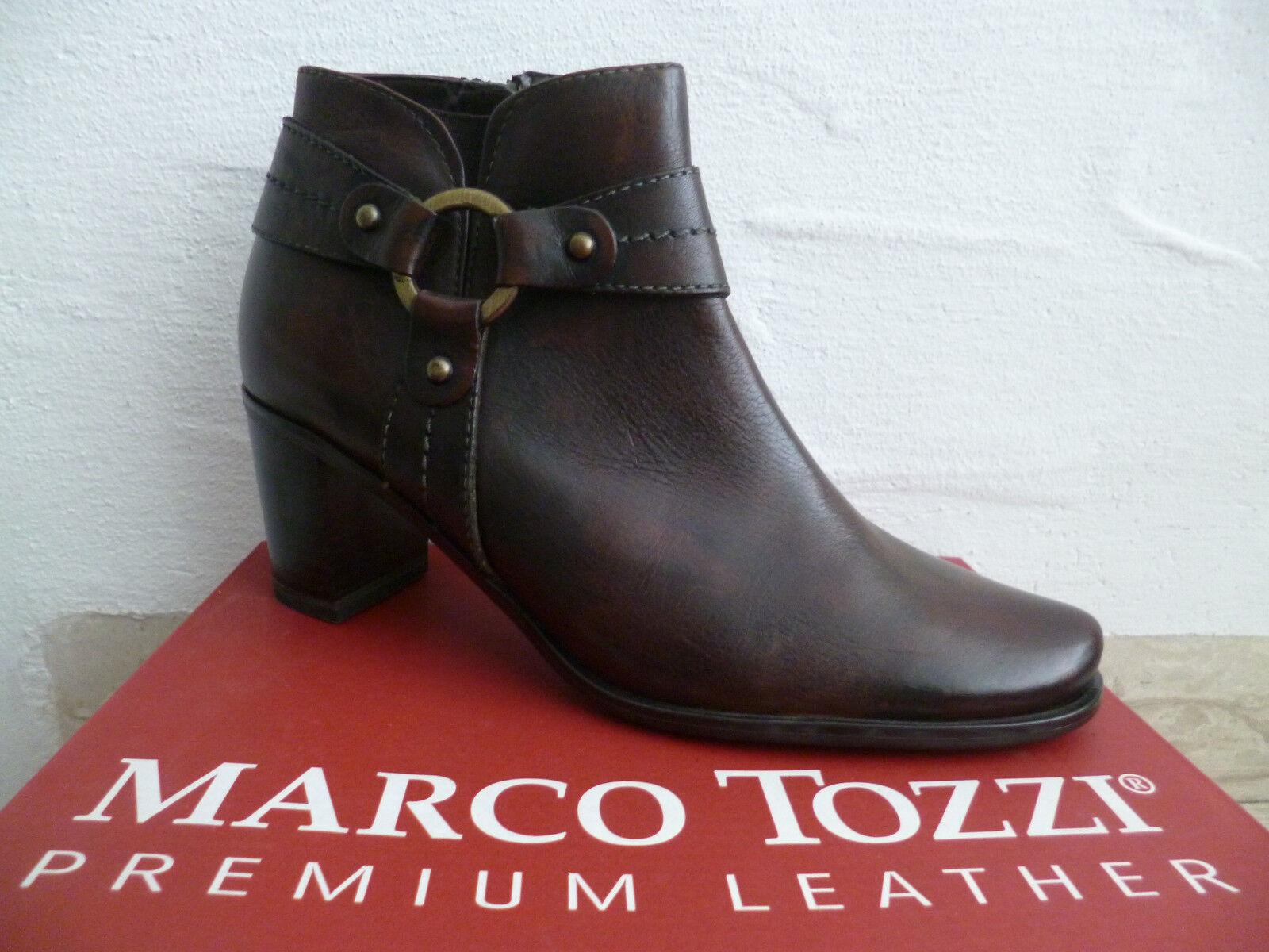 Marco Tozzi Tozzi Tozzi Botines Mujer botas de Invierno botas botas Marrón Cuero Nuevo  marcas en línea venta barata