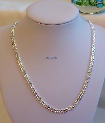 S990 Silver filled men/women curb chain necklace length 45cm, 49cm, 54cm