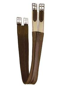 Contoured-English-Horse-Saddle-Chafe-less-Leather-Girth-Size-44-Havana-Brown