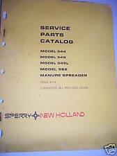New Holland Parts Manual 344 362 Manure Spreaders Vintage