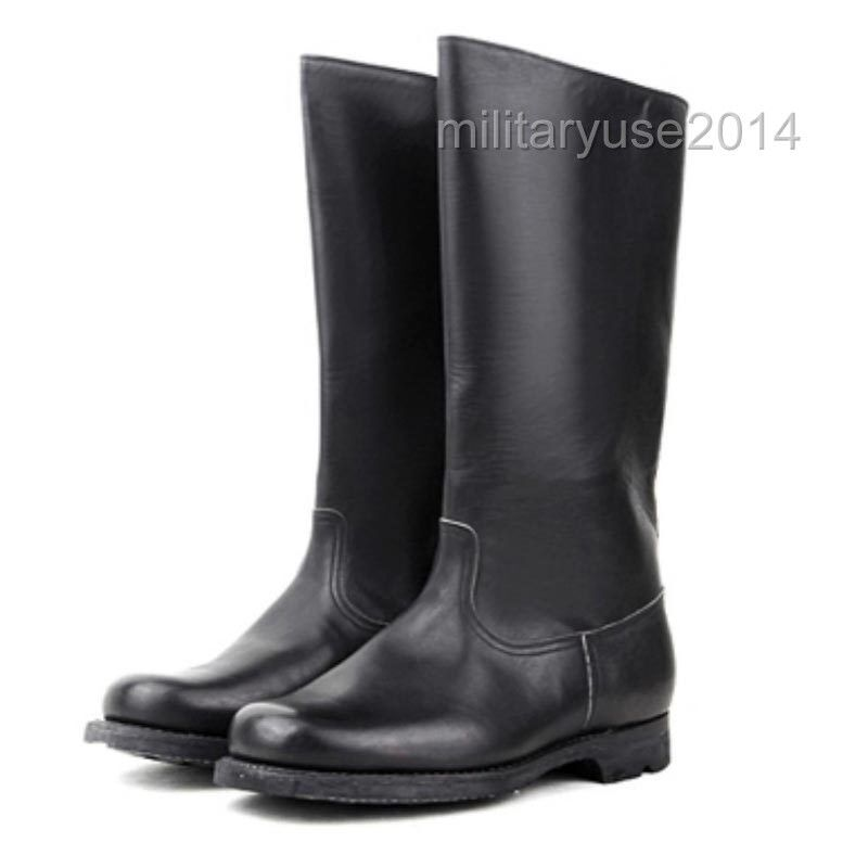 LEATHER MILITARY WWII GERMAN ARMY EM LEATHER COMBAT OFFICER BOOTS IN SIZES 3514