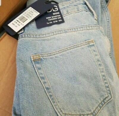 "RRP £55 URBAN OUTFITTERS BDG MOM JEANS Light Wash High Waist 27/"" Waist 30/"" Leg"