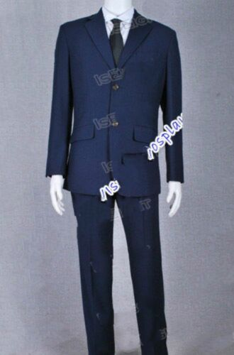 Sherlock Holmes Cosplay Jim Moriarty Costume Blue Suit Party Uniform