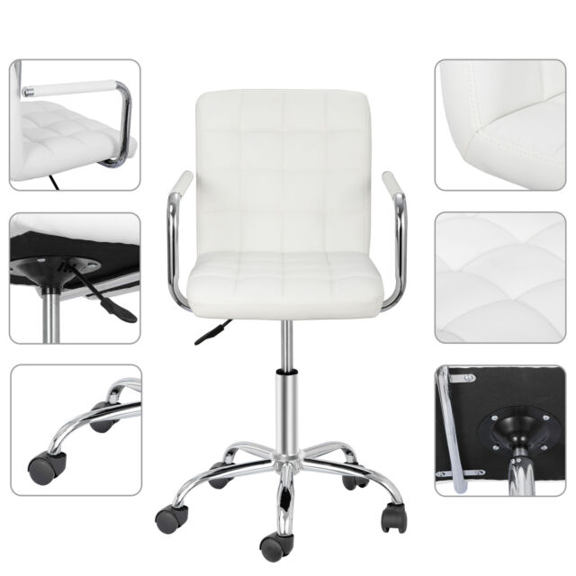 Adeco Bentwood Adjustable Swivel Home Office Mobile Desk Chair With Pu Leather S For Sale Online Ebay