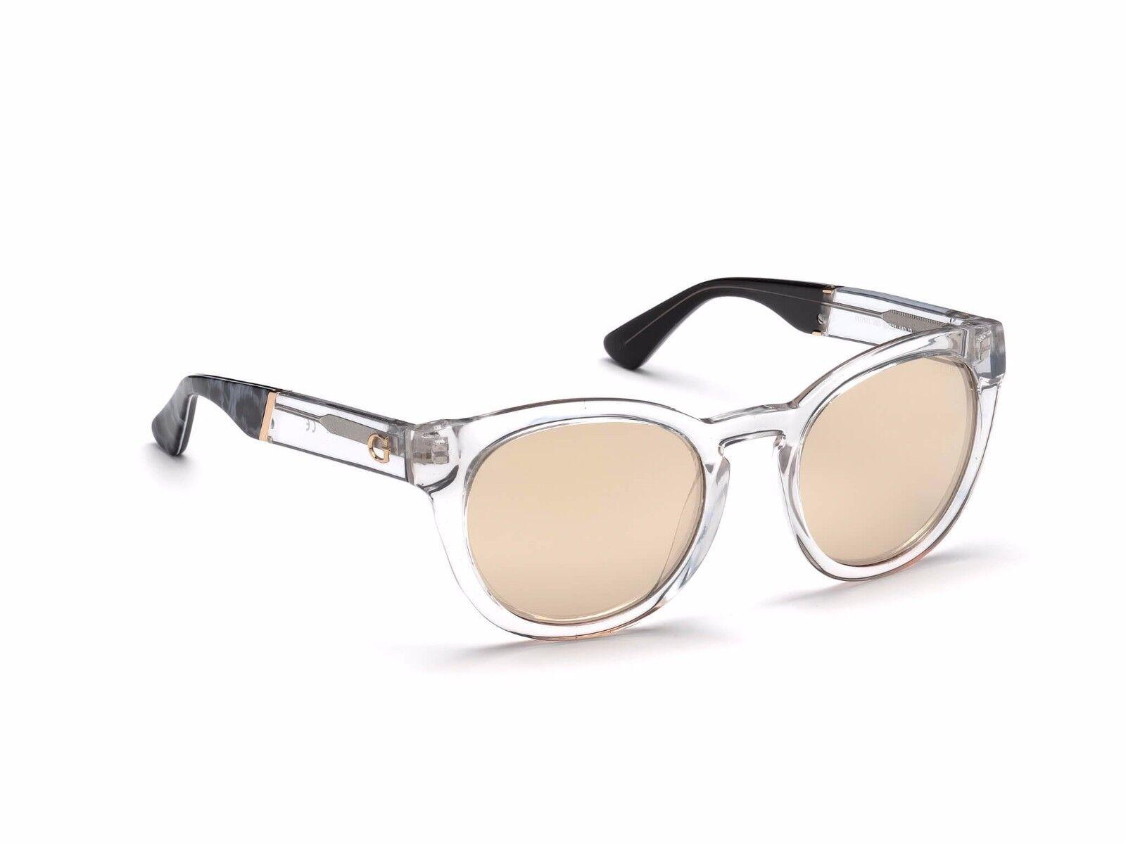 Brown Mirror 52 mm GU7473 NIB NWT GUESS Sunglasses GU 7473 26G Crystal
