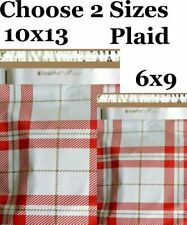 Choose 6x9 10x13 Plaid Designer Boutique Poly Mailers Fast Shipping