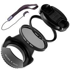 55mm Gegenlichtblende UV Polfilter Objektivdeckel passt zu Sony DSC-HX400V HX300