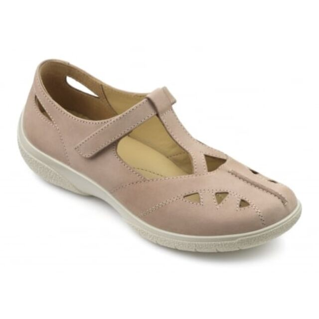 Hotter Martha Shoes LT Taupe Extra Wide