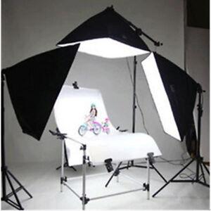 Profi-Fotostudio-Studioset-mit-Softbox-Aufnahmetisch-Lampenstativ-4x135W