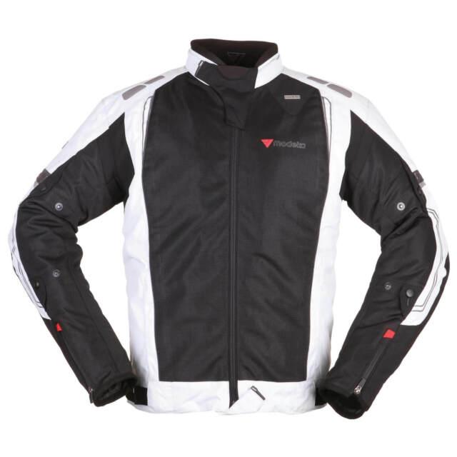 Motorradjacke mit Protektoren Jacken+Hose Grau Textil Tourenjacke+Hose