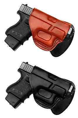 Choose Gun /& Color TAGUA Black Brown Leather Right Hand BACK POCKET Holster