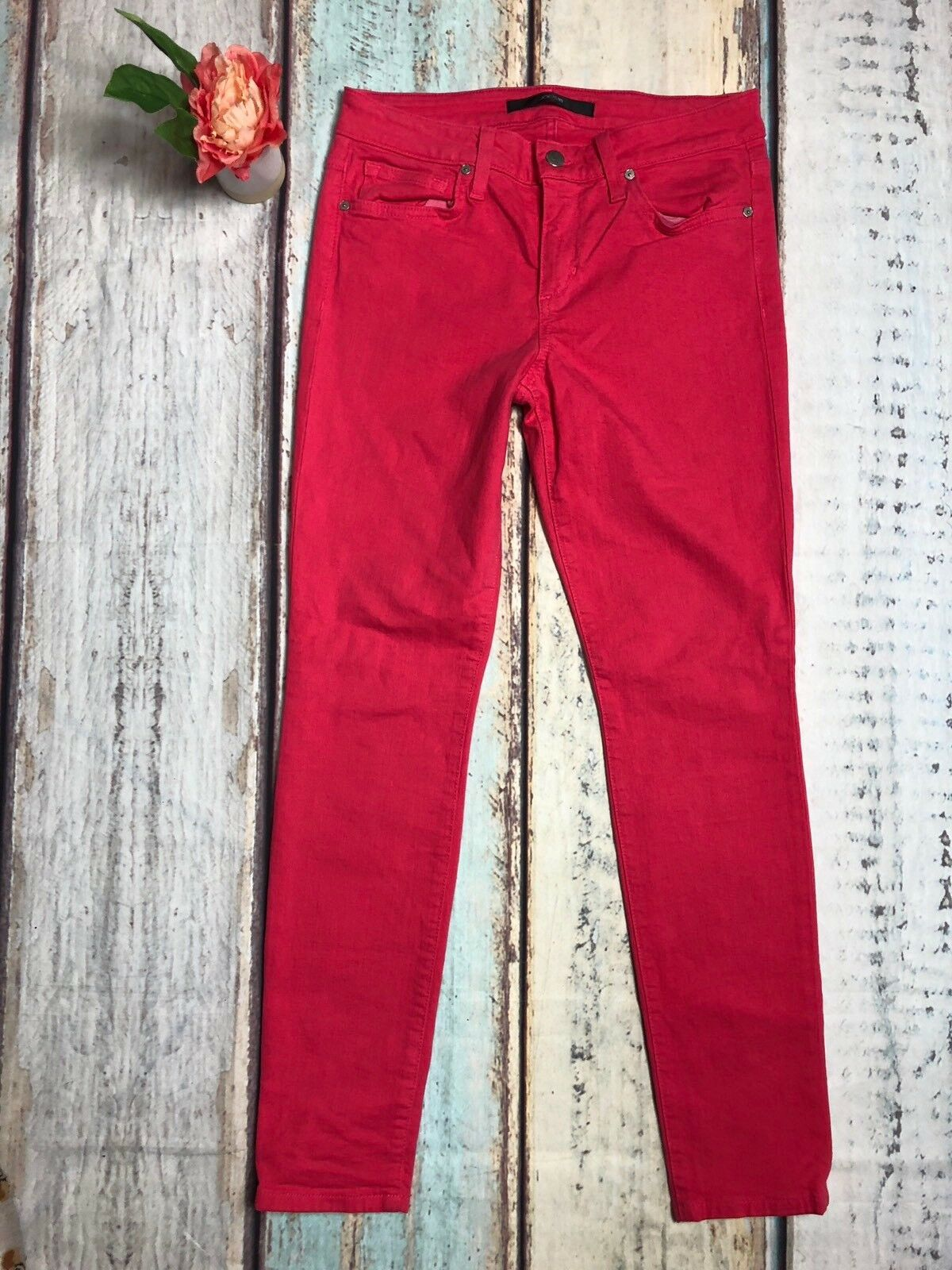 JOES Jeans Size 27 Hot Pink Skinny Ankle Jeans in Pink Glo Womens