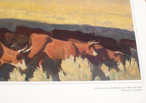 "Open Range by Maynard Dixon 27/"" X 25/"" Western Art Print New Museum Printed"