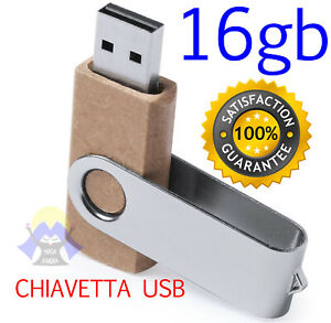 PEN DRIVE Chiavetta USB Penna CHIAVE Memoria FLASH 16 gb UNIVERSALE STICK Nuova