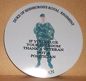 7 Para Royal Horse Artillery Veteran  9cm vinyl sticker personalised..