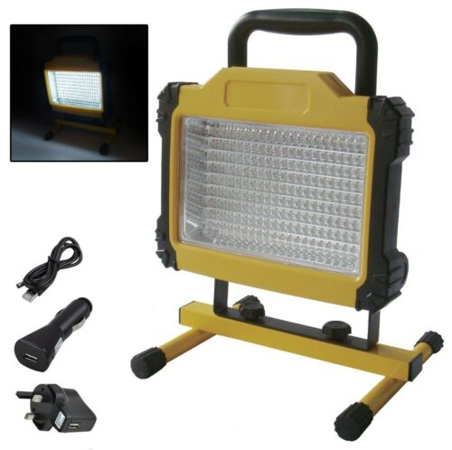 180 LED Rechargeable Cordless Mobile Portable Work Site Flood Light Camping Lamp