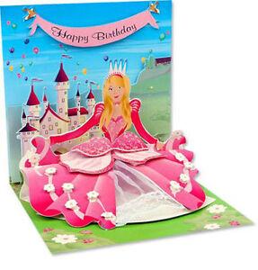 La Foto Se Esta Cargando Princesa Pop Up Tarjeta De Cumpleanos