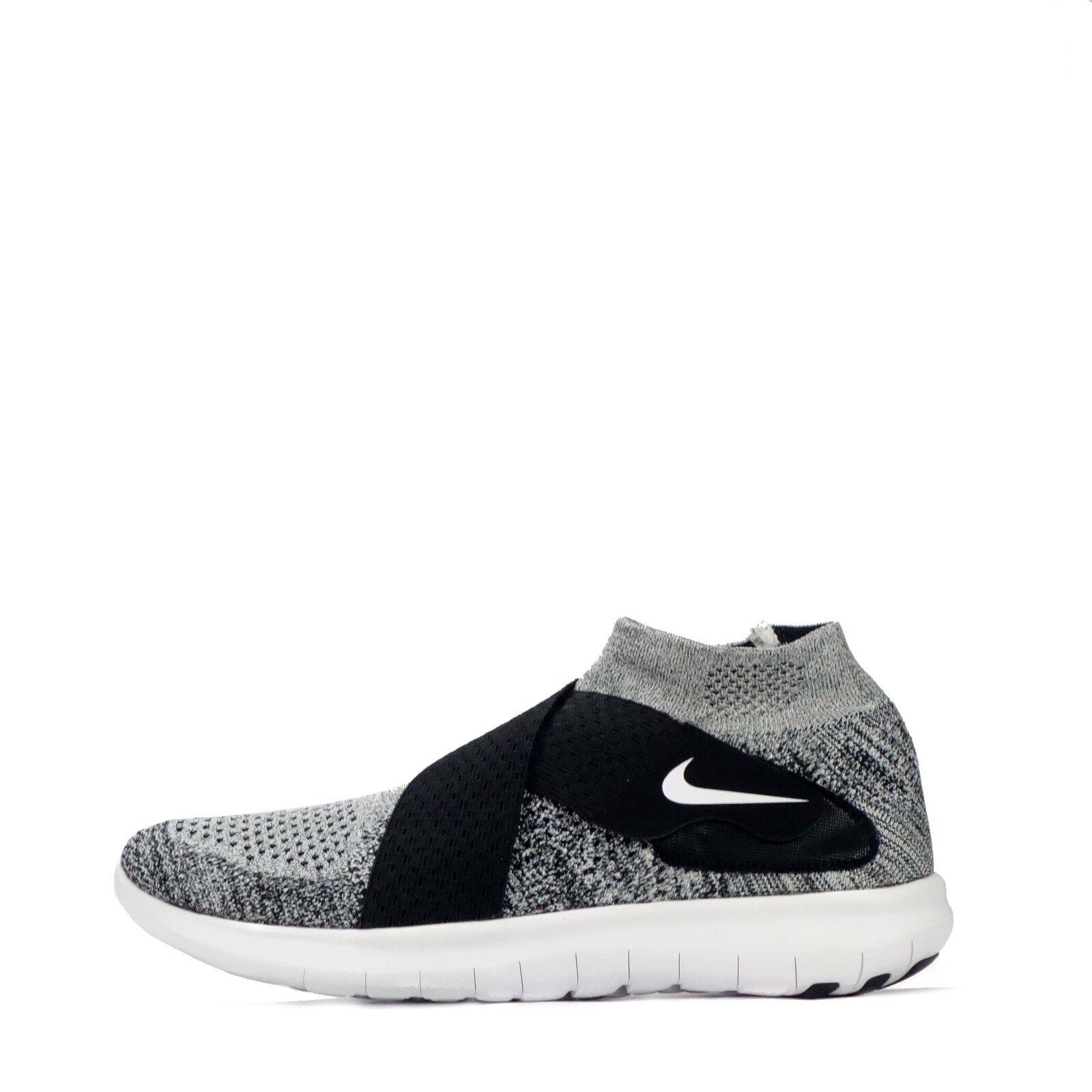 Nike Free RN Motion Flyknit 2017 Men's Running shoes Black White