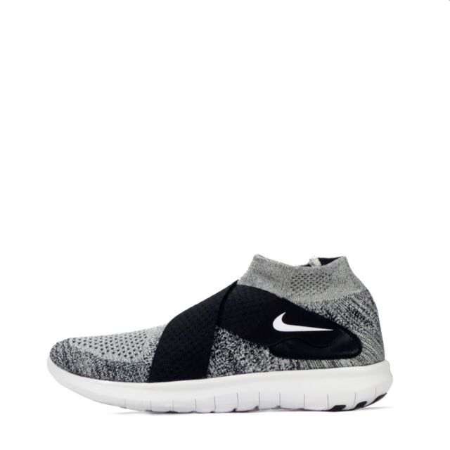 76b35376a88 Nike Free RN Motion Flyknit 2017 Mens Running Trainers Shoes Black White