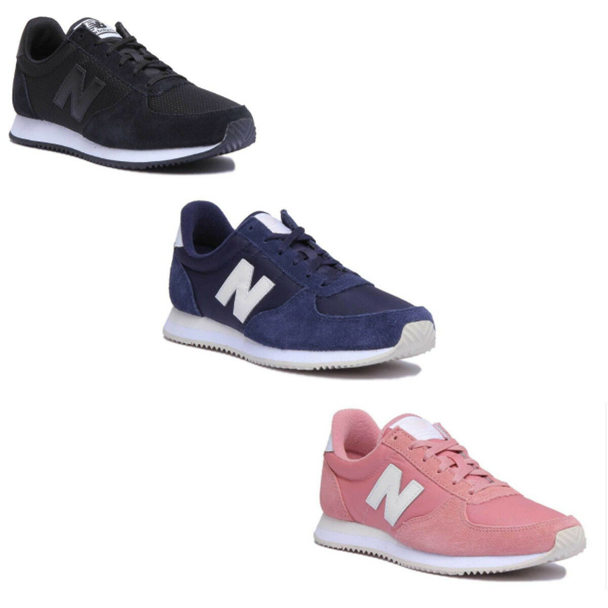 New Balance WL220RA Damens Other Fabric Pink Trainers Größe UK 3 - 8