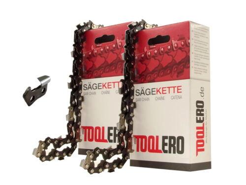 2x40cm Toolero Lopro HM Kette für Black/&Decker GK1640T Motorsäge Sägekette 3//8P