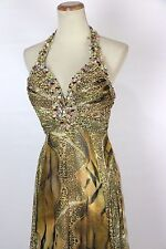 New Authentic Tony Bowls 2351225 Multi-colored Beaded Bridal Prom Women Gown 2